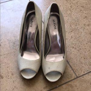 Alfani white heels